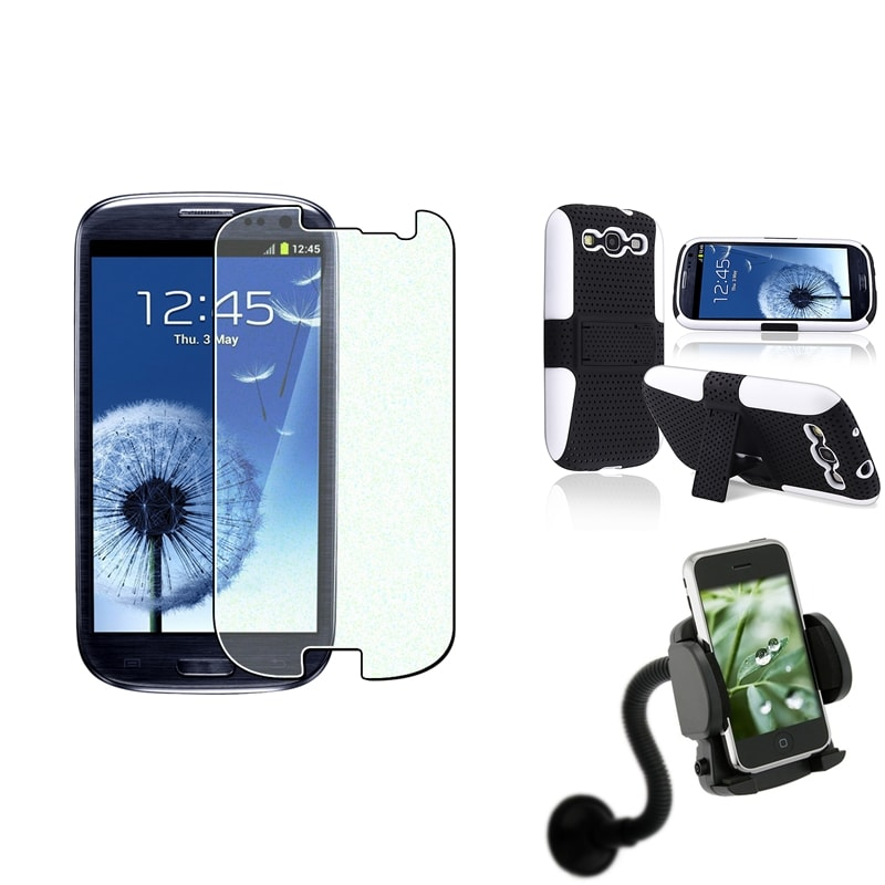 Hybrid Case/ Protector/ Windshield Mount for Samsung Galaxy S III/ S3