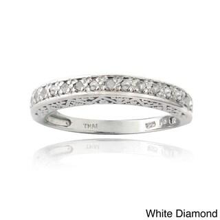 DB Designs Sterling Silver 1/6ct TDW Diamond Eternity Ring