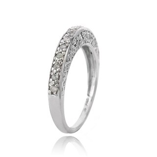 DB Designs Sterling Silver 1/6ct TDW Diamond Eternity Ring (I-J, I2-I3)