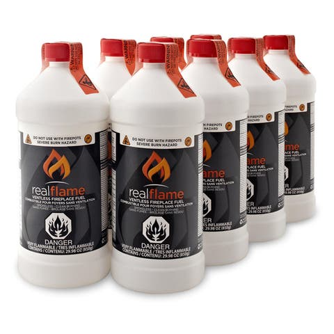 Real Flame Ventless Fireplace Fuel (Pack of 8) - 3.5 x 8.75