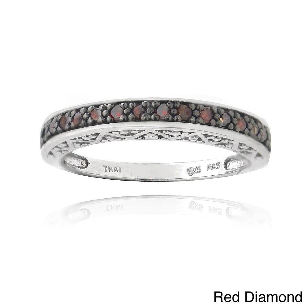 DB Designs Sterling Silver 1/6ct TDW Round Diamond Eterni...