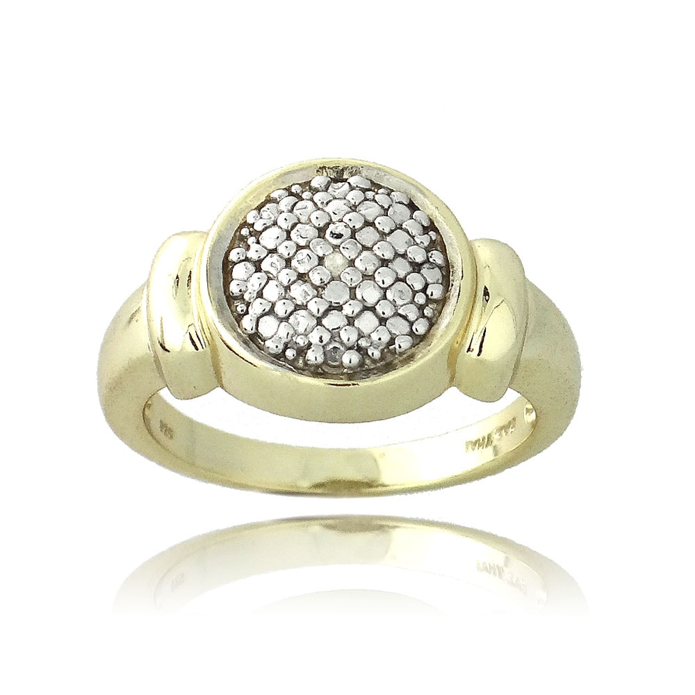 DB Designs 18k Yellow Gold over Sterling Silver Diamond Accent Circle Ring