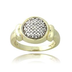 DB Designs 18k Yellow Gold over Sterling Silver Diamond Accent Circle Ring (More options available)