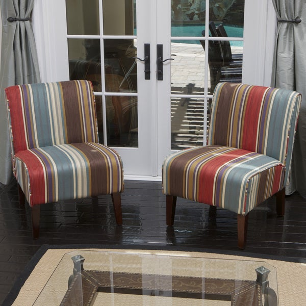 Sarape Multicolored Slipper Chairs (Set of 2) by Christopher Knight Home