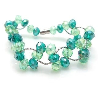 Handmade Magnetic Weave Charm Crystals Bracelet (Philippines)