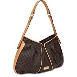 Rioni 'The Iris Bag' Signature Brown Canvas Shoulder Bag