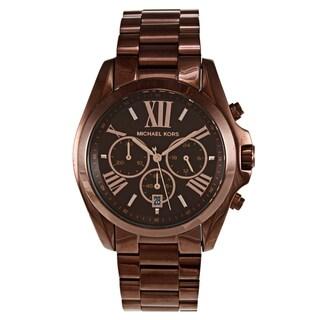 Michael Kors Women's 'Bradshaw' Stainless Steel Brown Watch