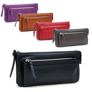 Anais Gvani Smooth Genuine Italian Leather Zipper Pouch Wallet|https://ak1.ostkcdn.com/images/products/7022794/P14528225.jpg?impolicy=medium