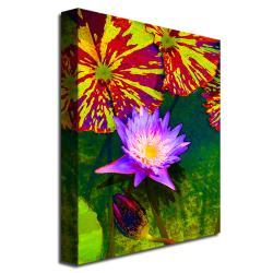 Amy Vangsgard 'Waterlily' Canvas Art - Thumbnail 1