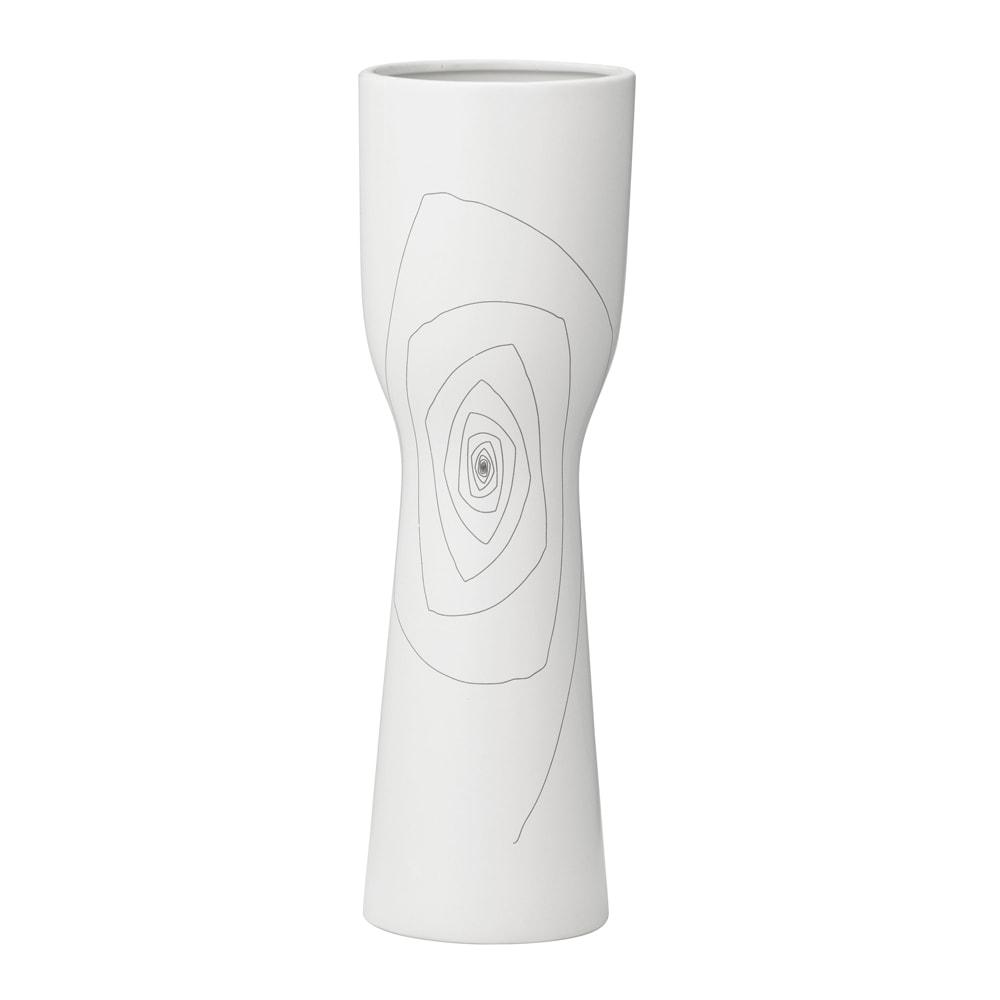 Medium White 15.9-inch Brittany Chalice Vase