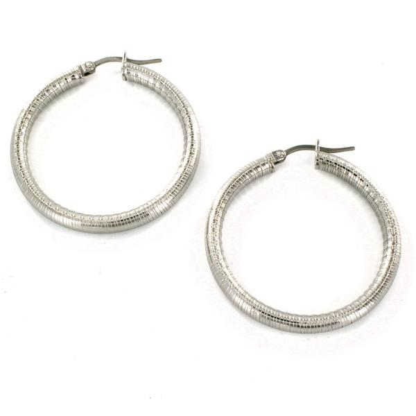 ELYA Stainless Steel Hoop Earrings