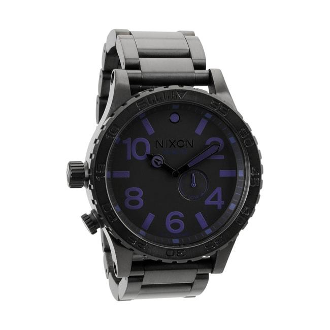 Nixon Men's 51-30 Black and Purple Tide Watch