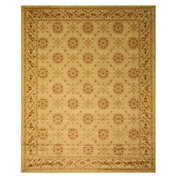 Beige Transitional Floral English Garden Trellis Rug (3'11 x 5'3)