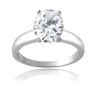 Icz Stonez Sterling Silver 4 1/3ct TGW Cubic Zirconia Engagement-style Ring