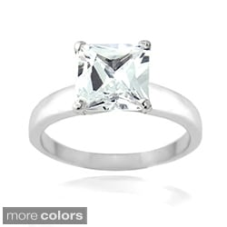Icz Stonez Sterling Silver 5 1/8ct TGW Cubic Zirconia Engagement Ring