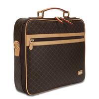 Rioni Signature Brown Jetsetter's Briefcase