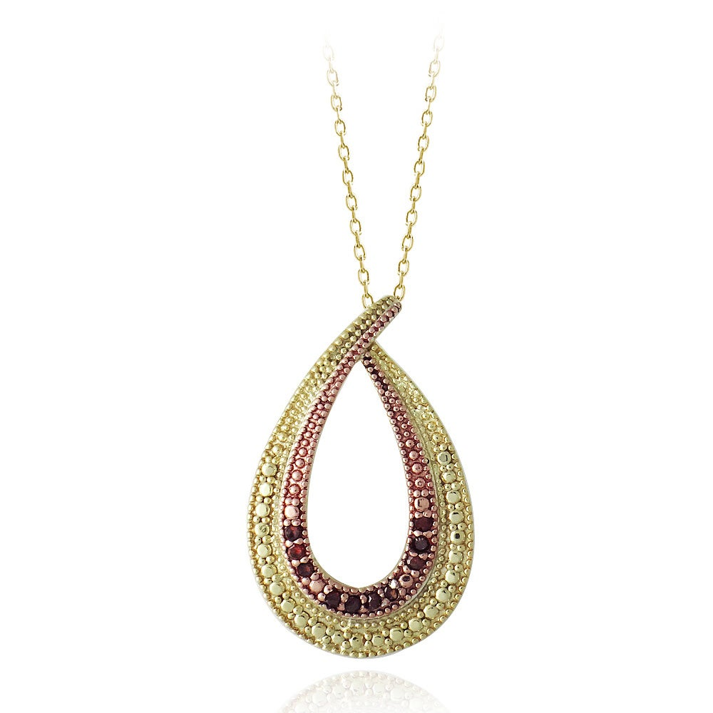 cate halo plated teardrop white pendant queen isabel drop gold products chloe necklace jewelry