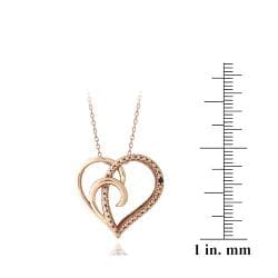 DB Designs Gold over Sterling Silver Diamond Heart Necklace