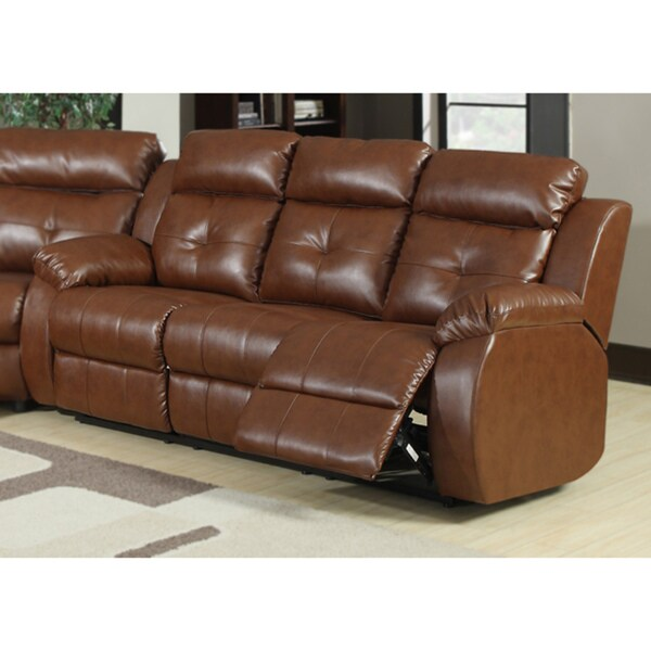 Brown Bonded Leather Joshua Sofa