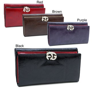 Anais Gvani Italian Leather Bifold Push-snap Closure Clutch Wallet