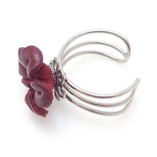 Pretty Jasmine Genuine Leather Floral Ring (Thailand)
