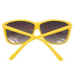 Women's Yellow Square Fashion Sunglasses - Thumbnail 2