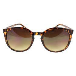 Women's Tortoise Oval Fashion Sunglasses - Thumbnail 1