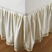 Gracewood Hollow Garcia Ruffled Bella Crochet Cotton Percale 18-inch Bedskirt