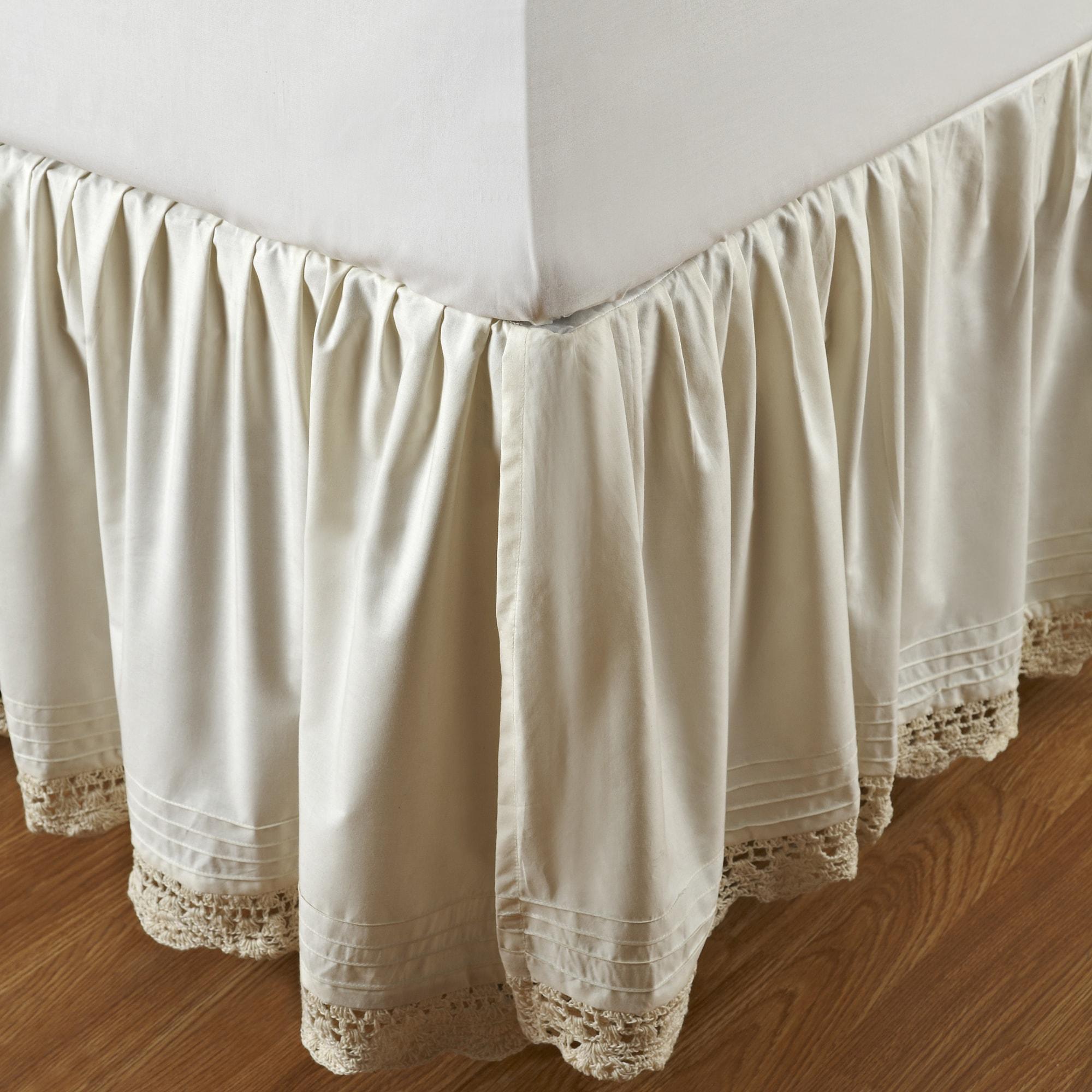 Cottage Home Ruffled Bella Crochet 18-inch Bedskirt (Full...