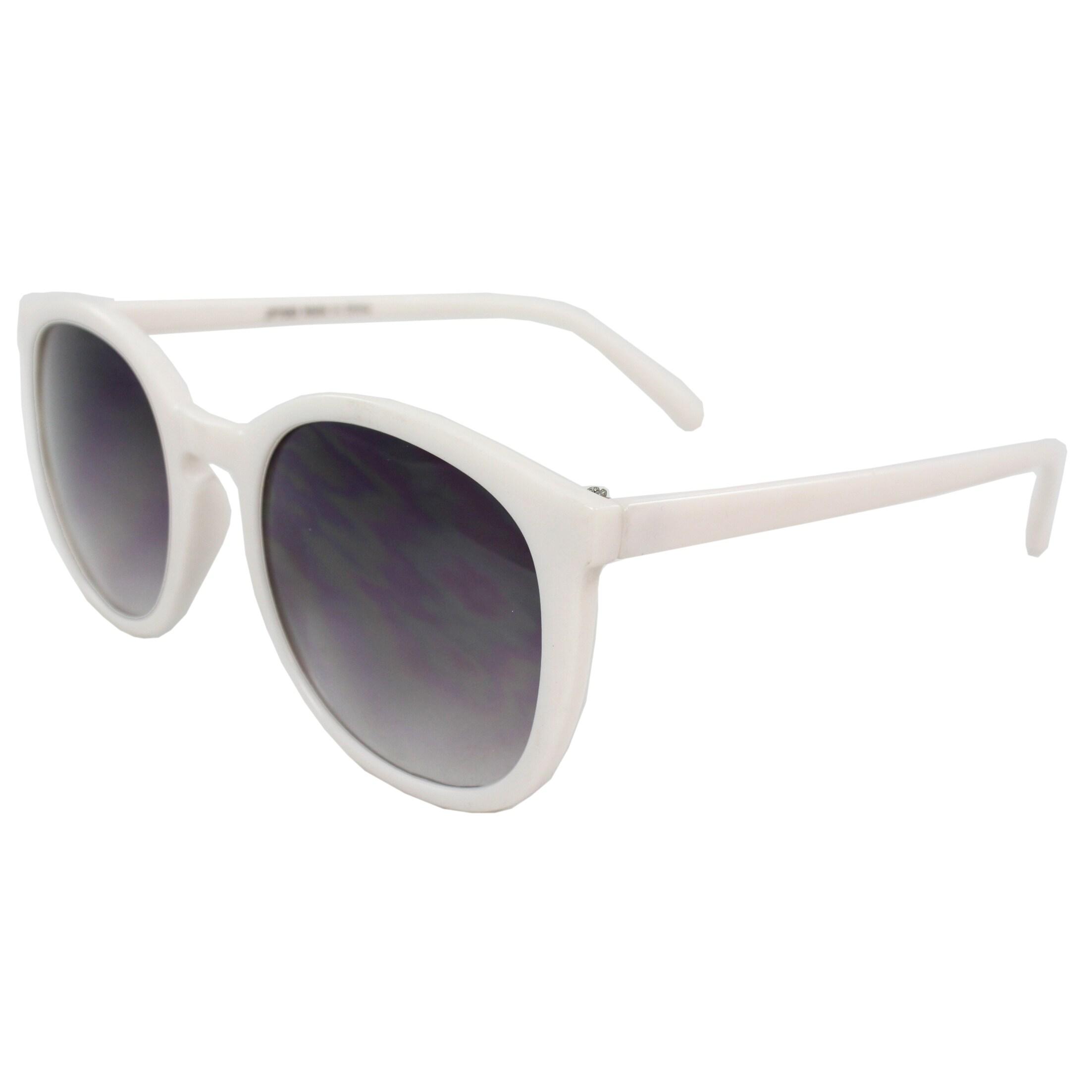 Women's White Oval Fashion Sunglasses