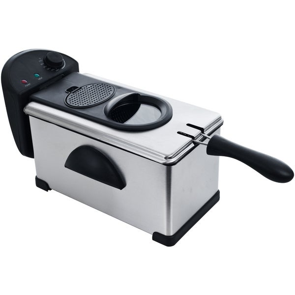 Chef Buddy Stainless Steel 3.2-quart Electric Deep Fryer
