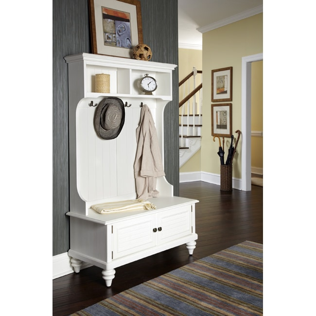 Home Styles Bermuda Hall Stand with Storage Bench