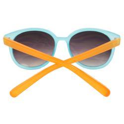 Women's Blue/ Orange Oval Fashion Sunglasses - Thumbnail 2