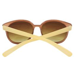 Unisex Two-Tone Oval Fashion Sunglasses - Thumbnail 2