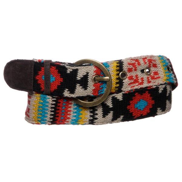 Muk Luks Women's Painted Desert Knit Belt