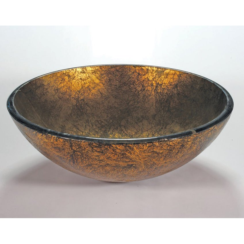 Shop Burnished Glass Sink Bowl Free Shipping Today