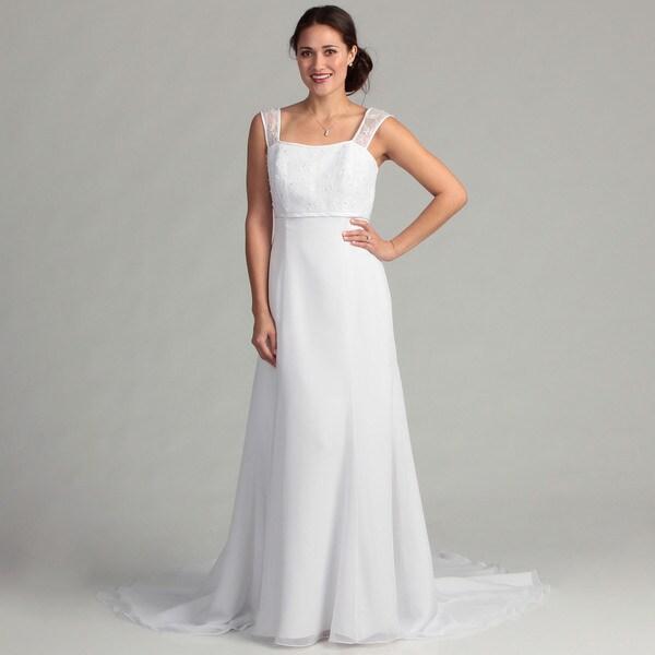 Eden Bridals Women's Empire Waist Bridal Dress