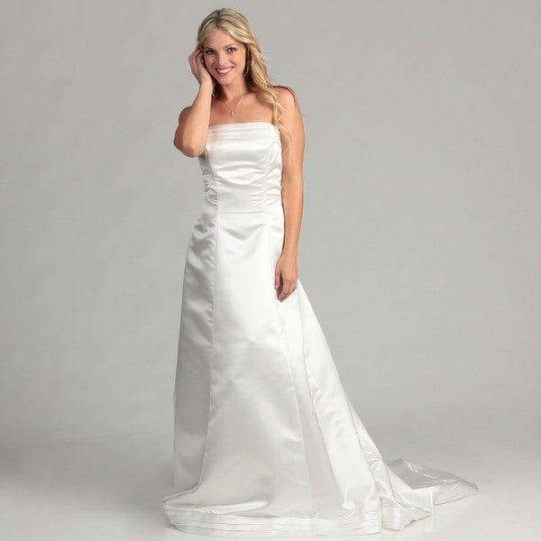 Eden Bridals Women's Strapless Pickup Bridal Dress