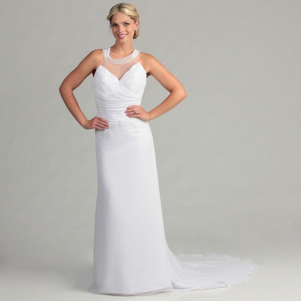 Eden Bridals Women's Wrapped Bodice Bridal Dress