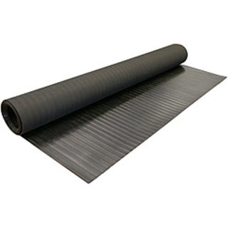 Rubber-Cal Wide Rib Corrugated Rubber Floor Mat (4' x 16')