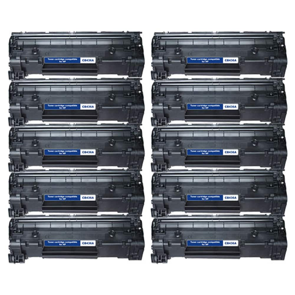 HP CB436A 36A Compatible Black Toner Cartridges (Set of 10)