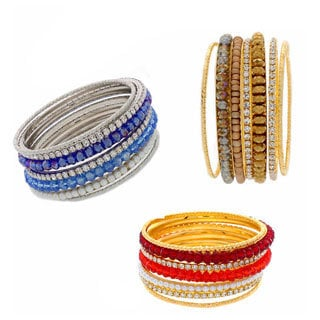 Nexte Jewelry Gold and Silvertone Stackable Bracelets (Set of 7)