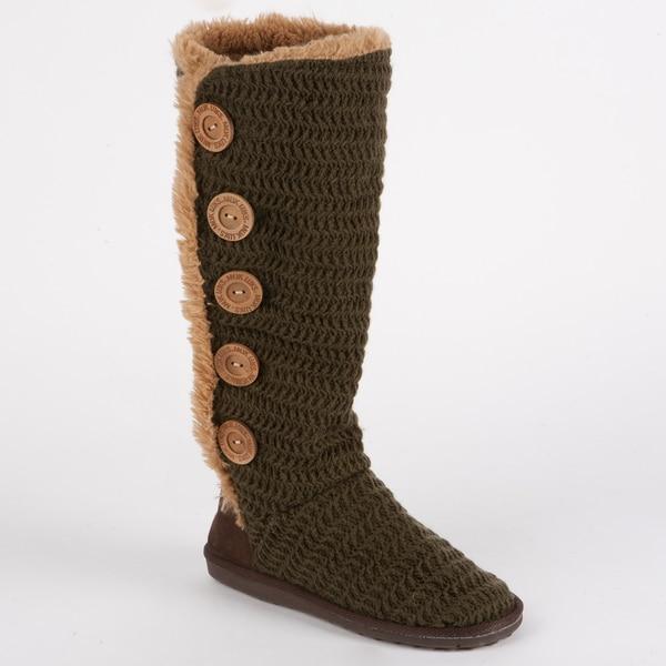Muk Luks 'Malena' Crochet Button Up Boot