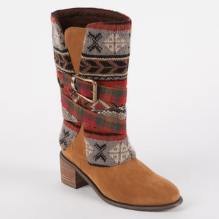 Muk Luks Nicole Belted Cowboy Boot