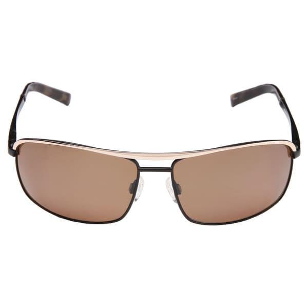Peppers 'Double Down' Men's Black Polarized Sunglasses