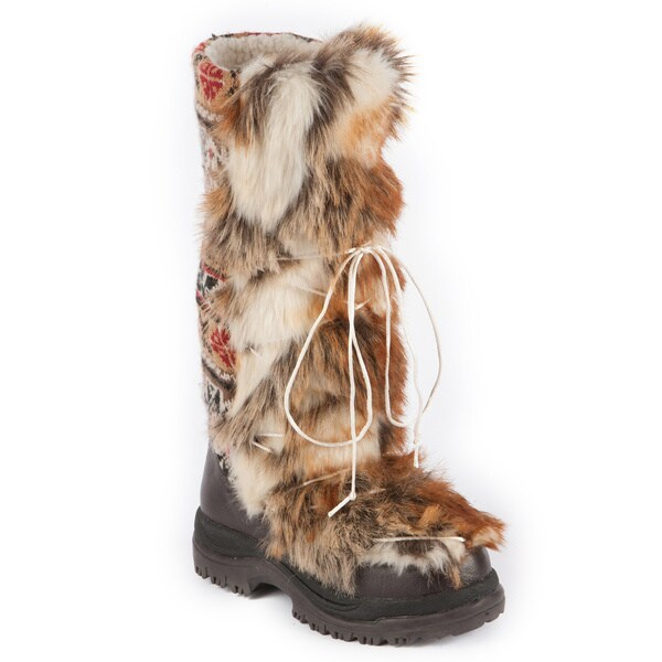 Muk Luks Sesu Southwest Fairisle Tall Snow Boot