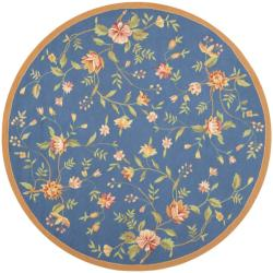 Safavieh Hand-hooked Garden Blue Wool Rug (8' Round)