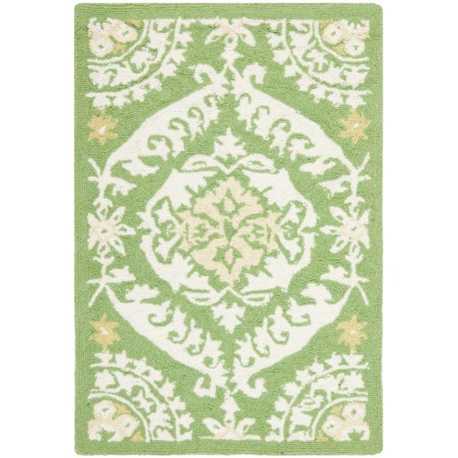 Safavieh Hand-hooked Chelsea Heritage Green Wool Rug - 1'8 x 2'6