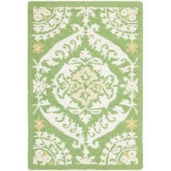 Safavieh Hand-hooked Chelsea Heritage Green Wool Rug (1'8 x 2'6)