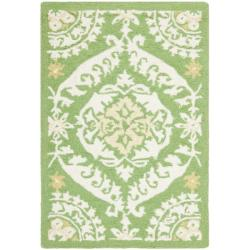 Safavieh Hand-hooked Chelsea Heritage Green Wool Rug - 1'8 x 2'6 - Thumbnail 0